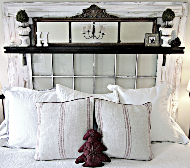 20 Fabulous Ways to Repurpose Old Windows -Turn Old Windows Into Headboard