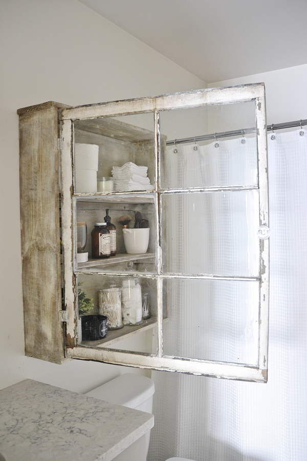 20 Fabulous Ways to Repurpose Old Windows -Turn Old Windows Into Window Cabinet