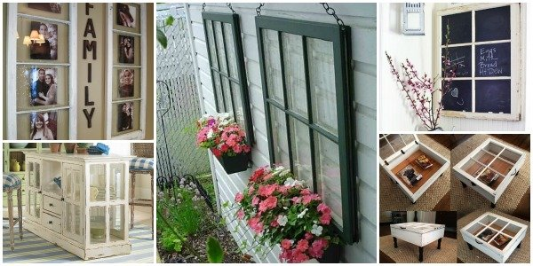 Diy decorating ideas using old windows for Ideas for old windows pictures