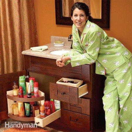 50+ Home Storage Solutions & Ideas Bathroom-Vanity-Storage-Upgrades