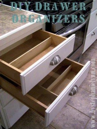 50+ Home Storage Solutions & Ideas DIY-Utensil-Drawer