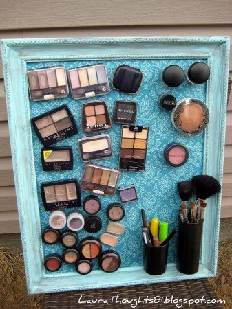 50+ Home Storage Solutions & Ideas Make-up-Magnet-Board