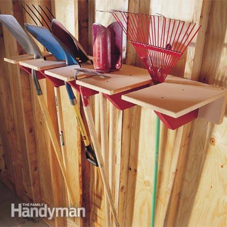 50+ Home Storage Solutions & Ideas Shovel-Rack