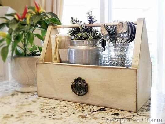 50+ Home Storage Solutions & Ideas Toolbox-Kitchen-Caddy