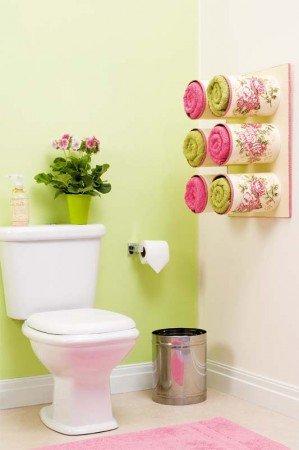 50+ Home Storage Solutions & Ideas Towel-Organization