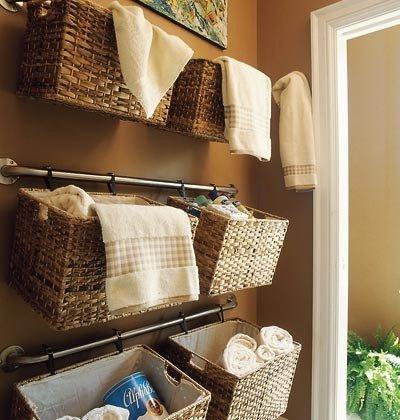Towel Organization 50+ Home Storage Solutions U0026 Ideas Wall Basket Storage
