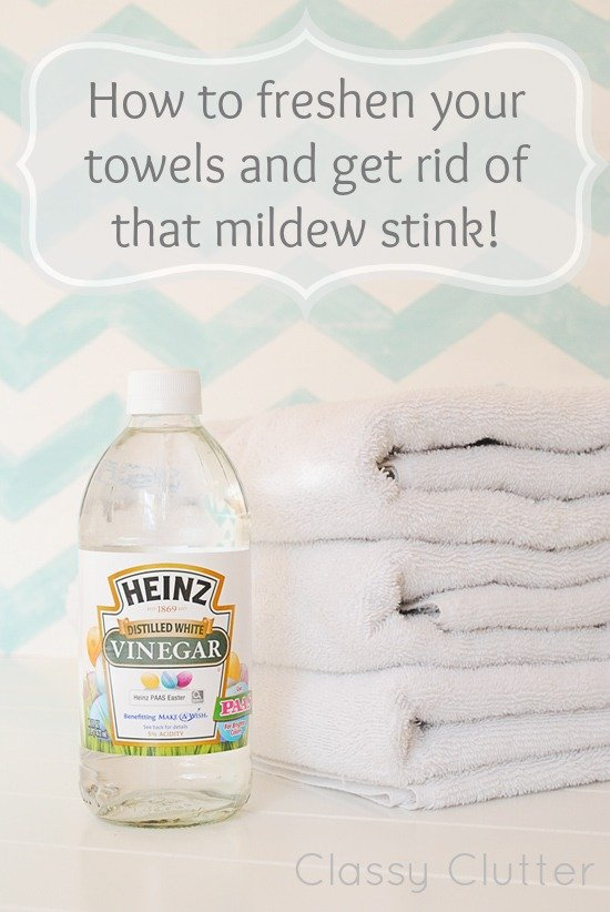 Clean your towels and get rid of the mildew stain.