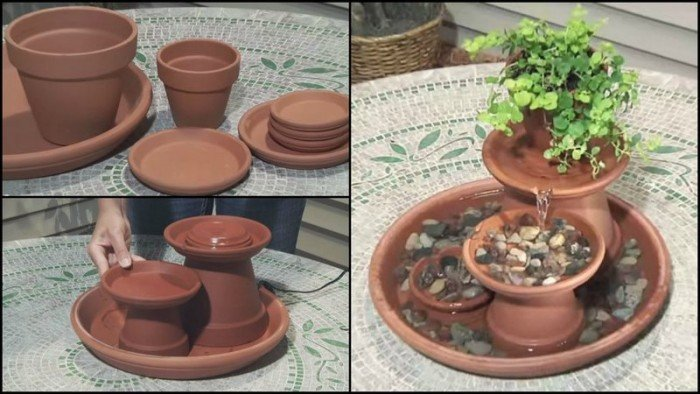 DIY How to Make Water Garden Fountain