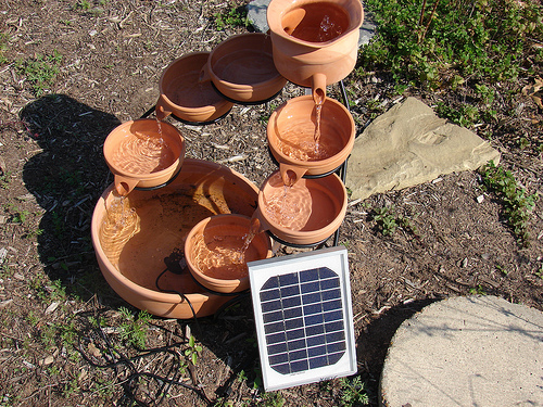 DIY How To Make Water Garden Fountain Solar Powered Water Fountain