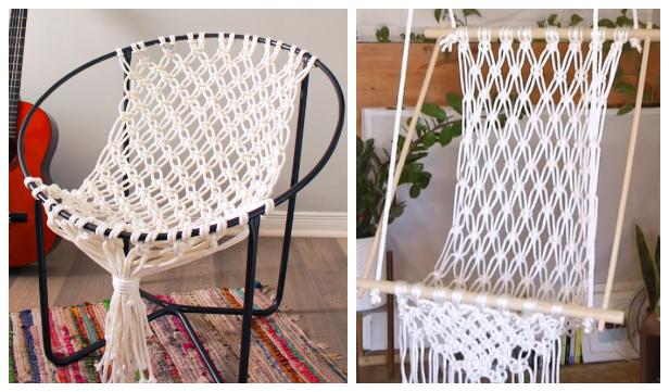 Diy Macrame Hammock Chair Swing Tutorial Video