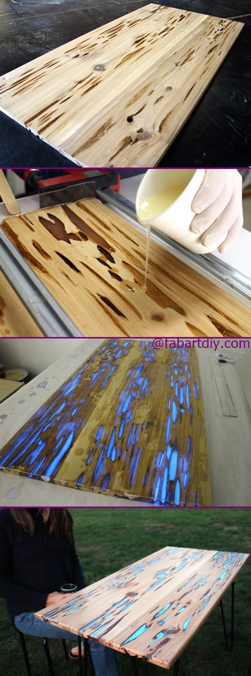 Glow in the Dark Table DIY Tutorial Step by Step