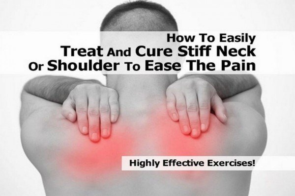 How To Easily Treat And Cure Stiff Neck Or Shoulder To Ease The Pain