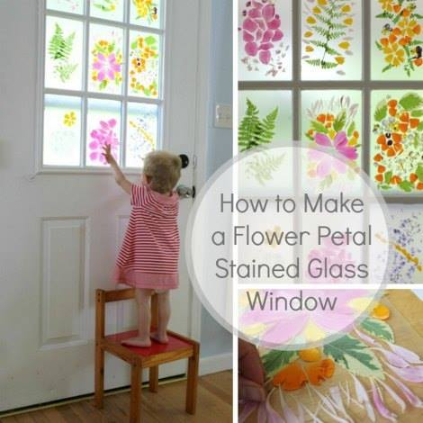 How to DIY Faux Stained Glass Windows tutorial-Flower Stained Glass Window Tutorial