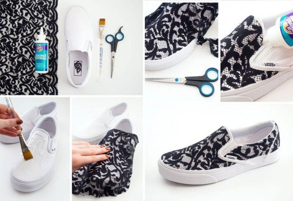 How to DIY Lace Slip-on Vans Sneakers