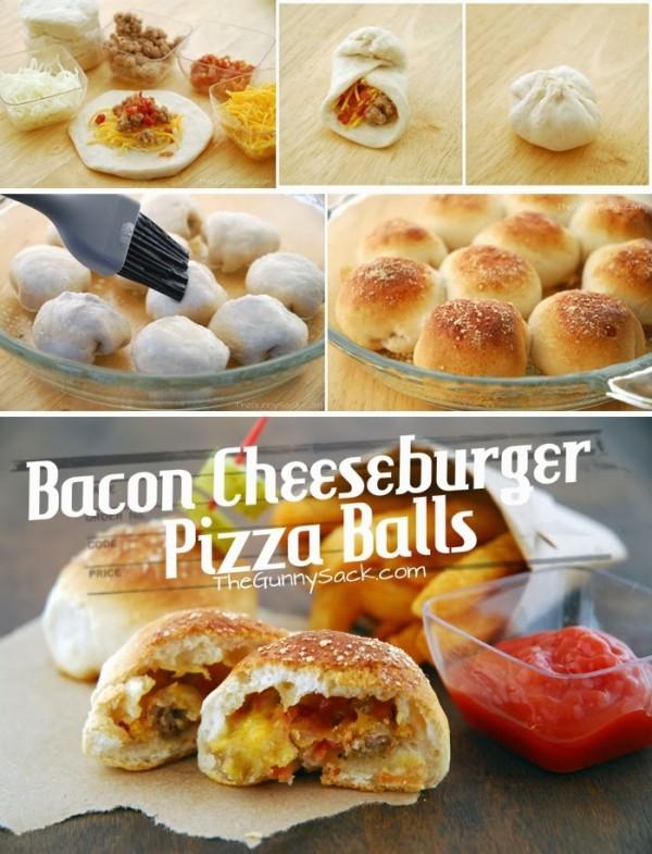 How to DIY Tempting Bacon Cheeseburger Pizza Balls