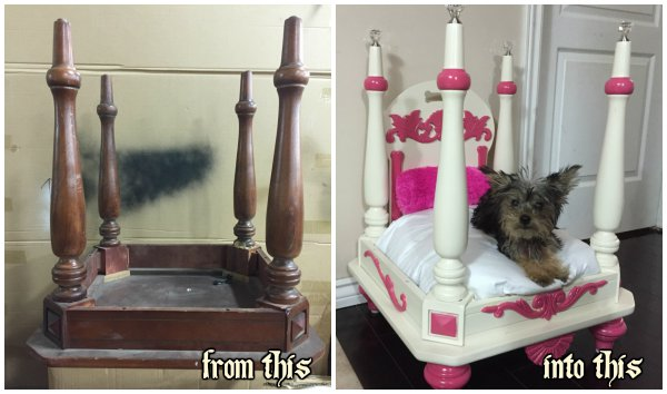 How to Turn Old End Table into Wood Pet Bed