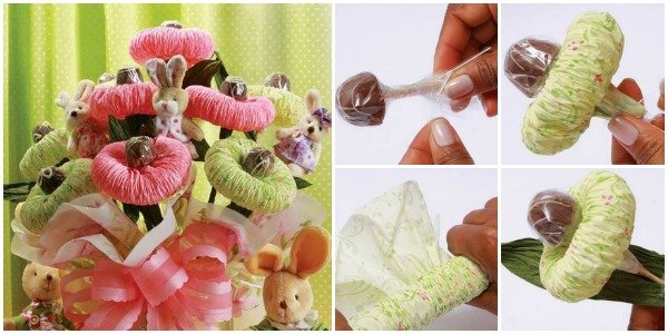 How to DIY Chocolate Paper Flower Bouquet
