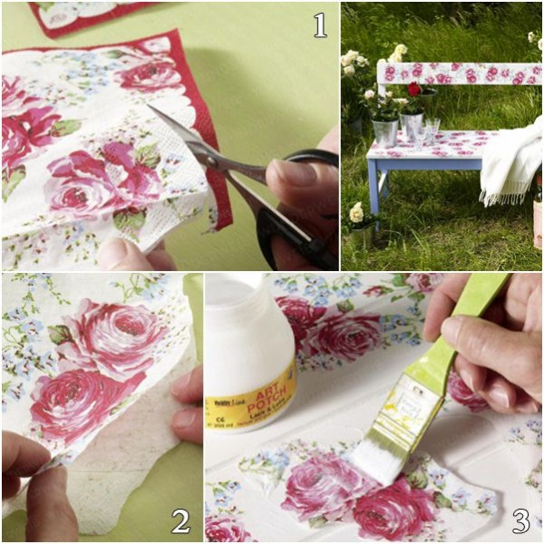 How to DIY Decoupaged furniture tutorial