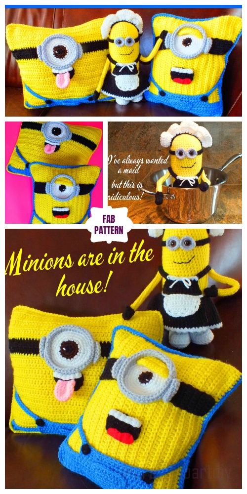 DIY Crochet Minion Doll and Pillow Free Crochet Patterns