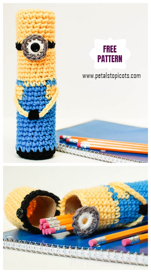 DIY Crochet Minion Pencil Case Free Crochet Pattern
