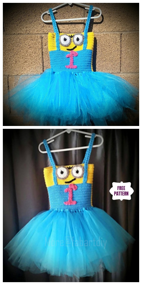 DIY Crochet Minion Tutu Dress Free Crochet Pattern