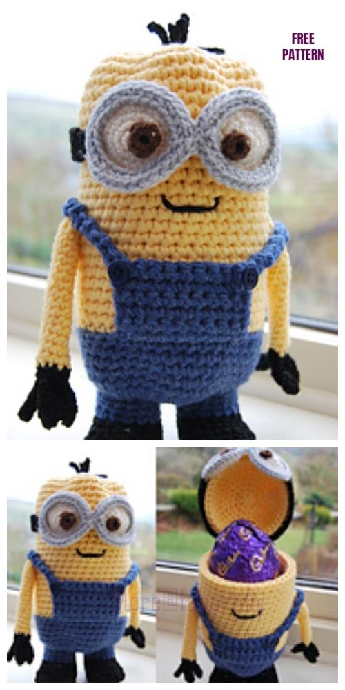DIY Crochet Minion Easter Egg HolderFree Crochet Pattern
