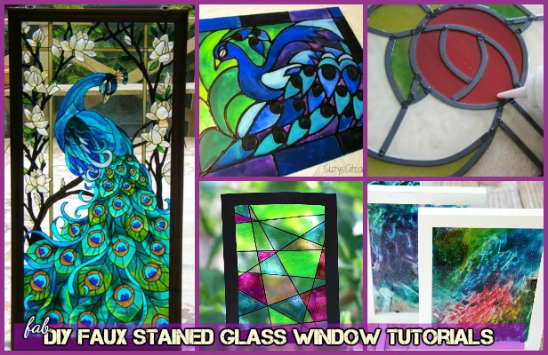 Diy Faux Stained Glass Windows With