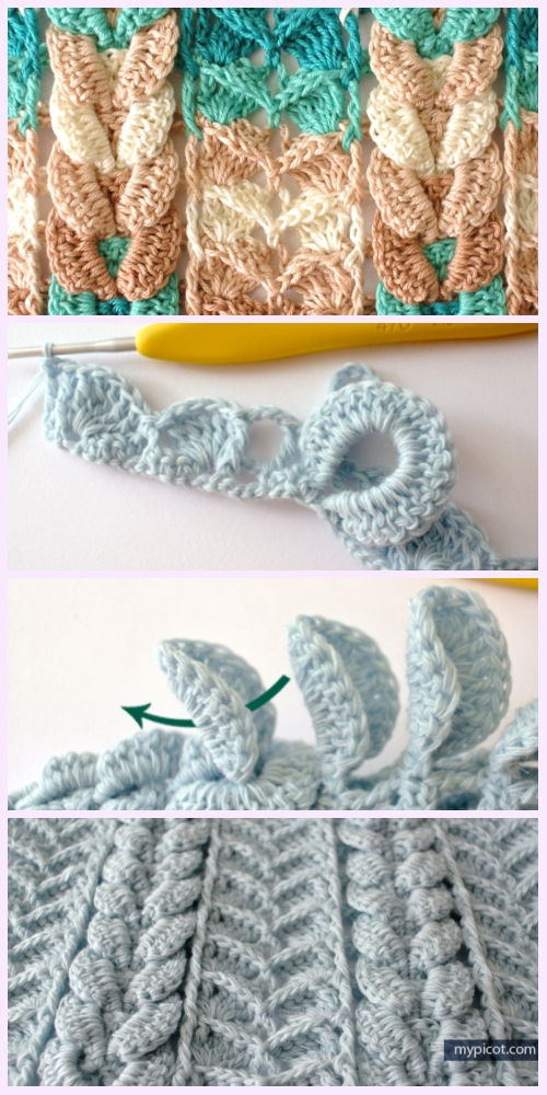 Diy Free Textured Cable Stitch Crochet Patterns