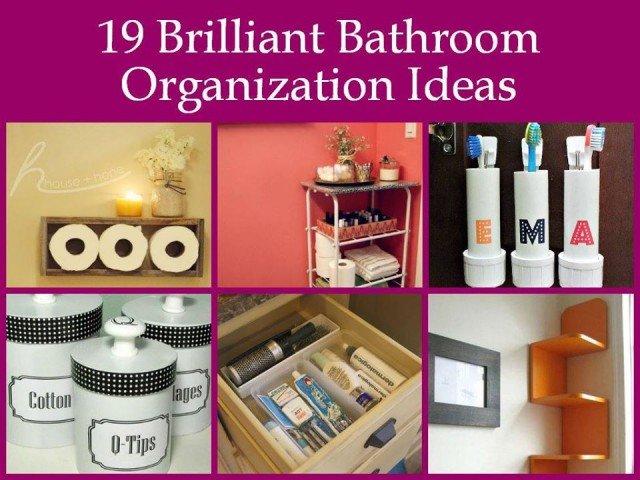 19 Brilliant Bathroom Organization Ideas