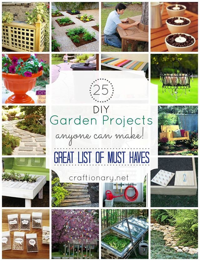 25 DIY Garden Projects Anyone Can Make