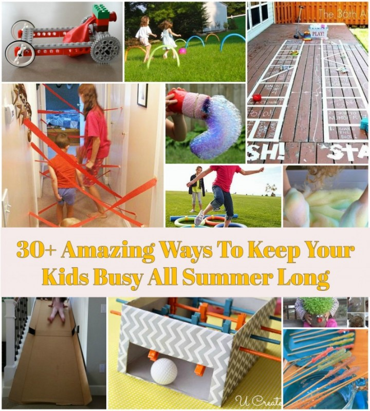 30+ Amazing Ways To Keep Your Kids Busy All Summer Long@fabartdiy