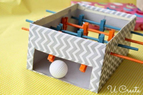 30+ Amazing Ways To Keep Your Kids Busy All Summer Long29 - DIY Mini football table for kids