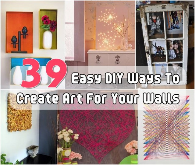 Easy Diy Wall Art Ideas : Easy diy wall art ideas and projects