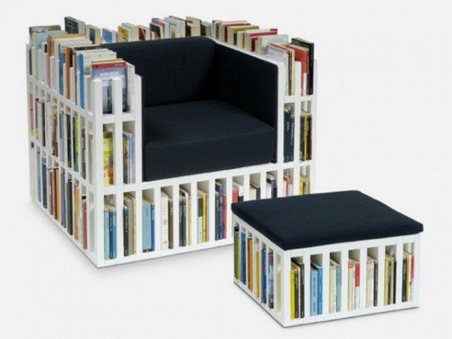 DIY Bookshelf Chair for Book Worms - La Bibliochaise designed by nobody&co.