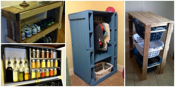 20 Creative DIY Pallet Storage Ideas And Projects