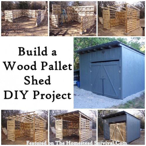 Creative DIY Pallet Storage Ideas and Projects Build an Amazing Wood Pallet Shed DIY Project
