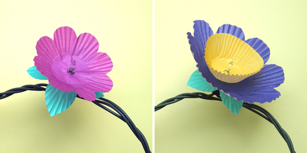 DIY Adorable Cupcake Flower Lights