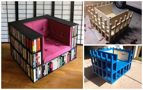 DIY Bookshelf Bookcase Chair for Book Worms