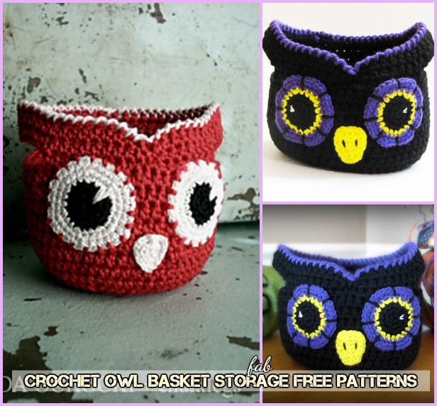 Crochet Little Owl Storage Basket Free Patterns