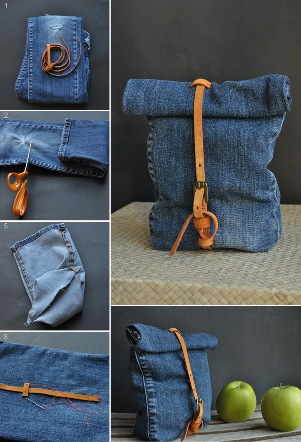 DIY How to Make Recycled Jean Bag