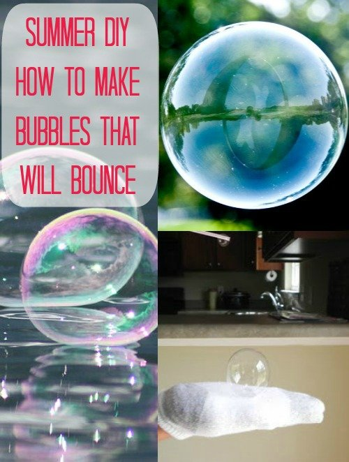DIY How to make bubbles that can bounce - diy homemade bouncy bubbles recipe and tutorial