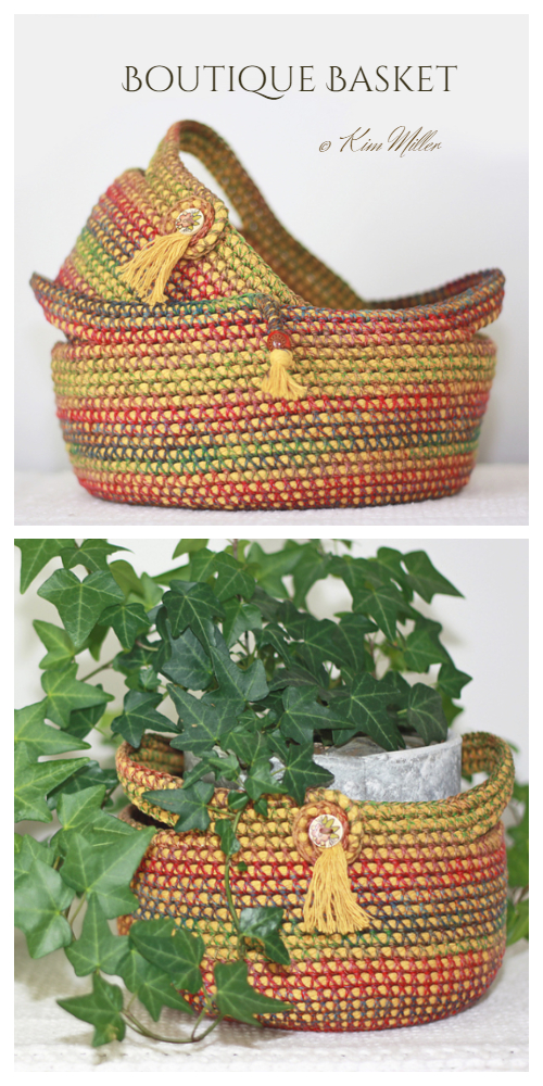 DIY Boutique Rope Basket Free Crochet Pattern