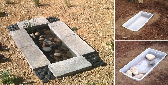 How To Make A Contemporary Garden Water Feature For Less Than $30.