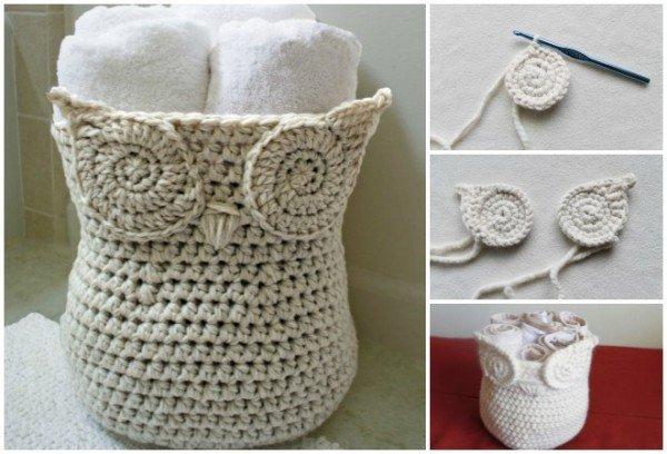 Free Crochet Pattern Owl Basket : DIY Crochet Owl Basket (Free Pattern)