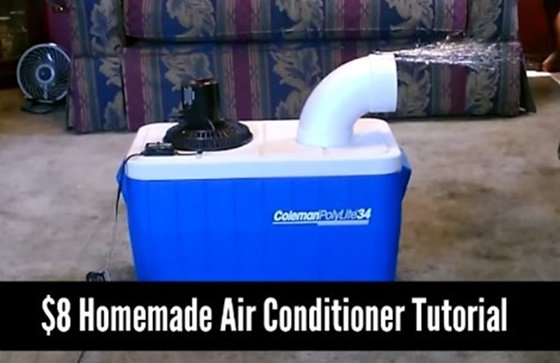 How to DIY Homemade Air Conditioner Tutorial - VIDEO