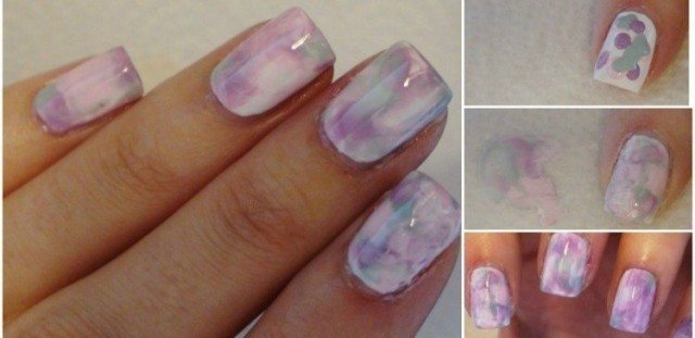 How to DIY Watercolor Marble Nails (Without Water)