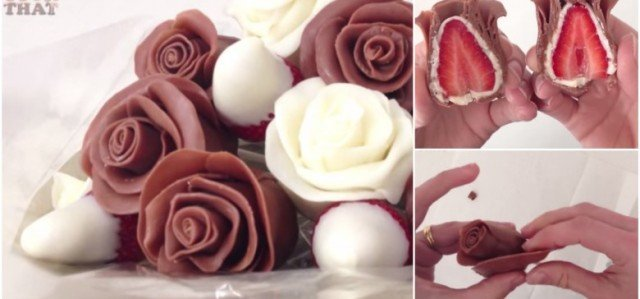 How to Make Beautiful Chocolate Strawberry Roses (VIDEO)