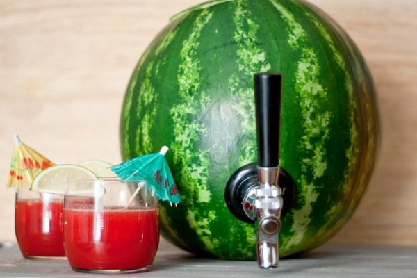 How to Serve Watermelon - diy watermelon cocktail keg tutorial