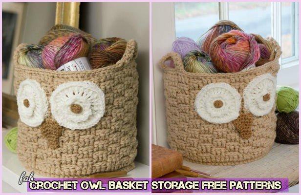 Diy Crochet Owl Basket Free Pattern