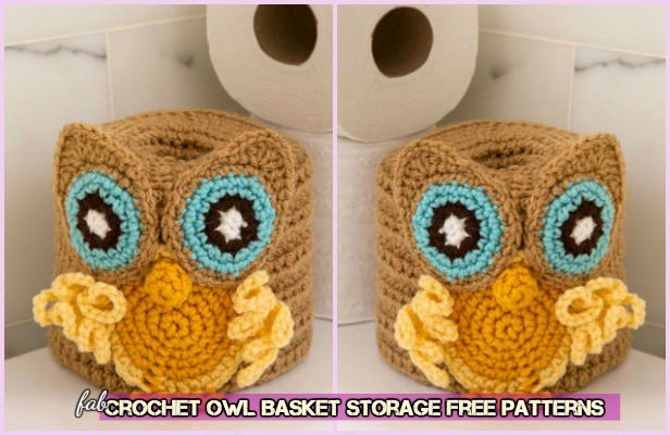 Crochet Owl Basket Storage Free Patterns